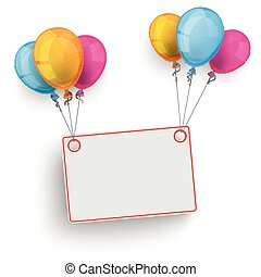 Board Colored Balloons