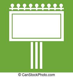 Board for statistics icon green