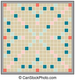 Board game erudition, educational qualifications, Board biggest Scrabble, vector play with your friends or family to game night, to make words from letters