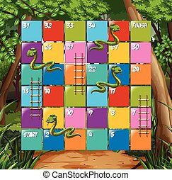 Board game snake and ladder  illustration