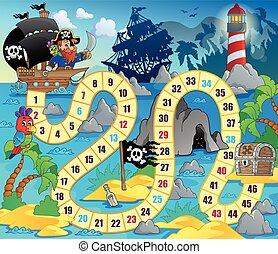 Board game theme image 5 - eps10 vector illustration.