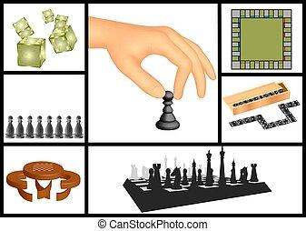 Board games set