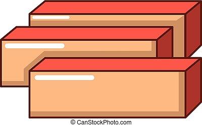 Board icon, cartoon style - Board icon. Cartoon illustration...