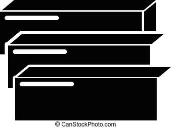 Board icon, simple style - Board icon. Simple illustration...