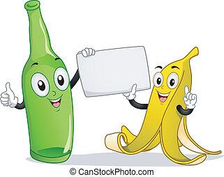 Banana and Bottle Mascot