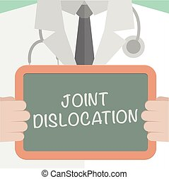 Board Joint Dislocation - minimalistic illustration of a ...