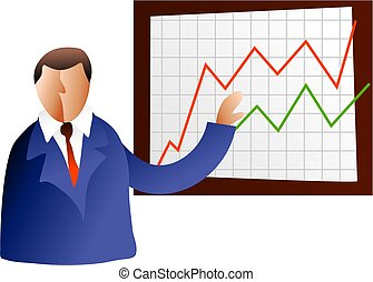 Board Meeting - business man with chart