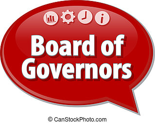 Board of Governers Business term speech bubble illustration