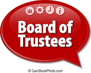 Board of Trustees Business term speech bubble illustration