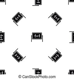 Board pattern seamless black
