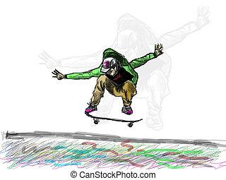 board player jump