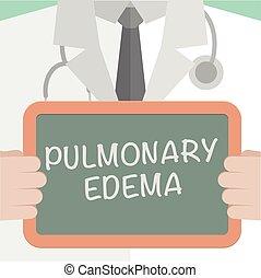 Board Pulmonary Edema - minimalistic illustration of a ...