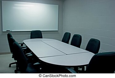 Board room in a puplic municipal building in Norwich, Ontario, Canada.