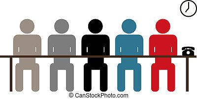 Board room_2 - Associates listening behind table in board...