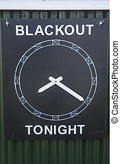 Board showing the Blackout Time