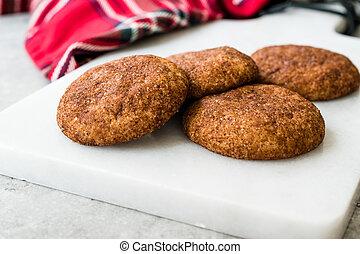 board., snickerdoodle, biscotti, cannella, marmo