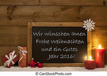 Board, Snow, Weihnachten, Jahr 2016 Mean Christmas And New...