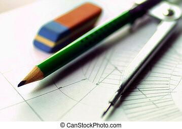 board table pencil