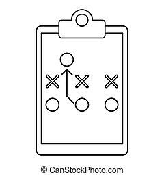 Board Tactical Diagram American Football Vector Illustration Eps 10