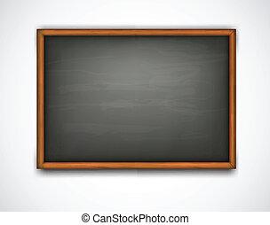 board., vektor, schwarz, klasse