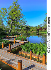 Board walk in Saint Louis Botanical gardens