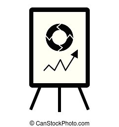 Board with a graph. Business icon