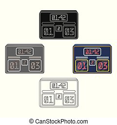 Board with a score of football. Fans single icon in cartoon style vector symbol stock illustration.
