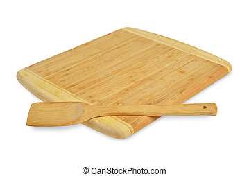 Board with a spatula