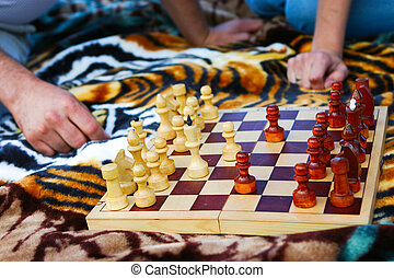 board with chess
