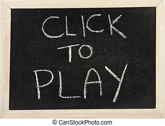 Board with 'click to play'