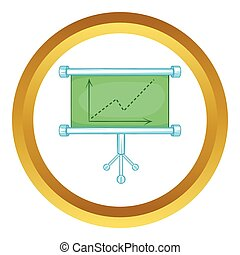 Board with statistics vector icon