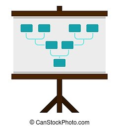Board with team formation icon isolated