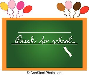 Board with text - back to school isolated on white background