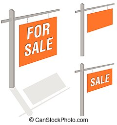 board with the inscription sale vector illustration