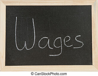 Board with Wages.