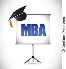 board., wykształcenie, prezentacja, mba, skala