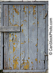 Boarded up door in the old cellar
