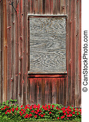Boarded Window - Boarded window on old building, for your...