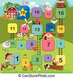 Boardgame - Board game with farm animals