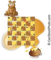 Boardgame - boardgame with a bear and honey