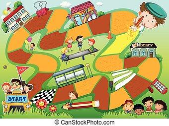 Boardgame theme - Schools kids theme board game