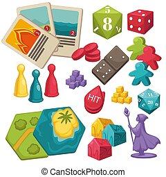 boardgames, juguetes, niños, colección, conjunto, juegos,...