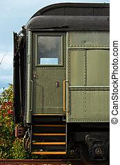 Boarding Door of Antique Train
