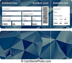 Boarding pass - Airline boarding pass ticket for business ...