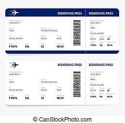 Boarding pass - Airline boarding pass ticket for traveling...