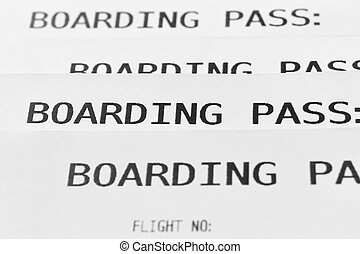 Boarding pass cards detail. Travel background. Tourist