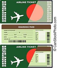 Boarding pass for passenger in Bangladesh