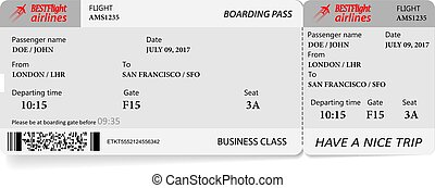 Boarding pass ticket in gray colors