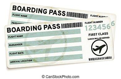 Boarding pass tickets