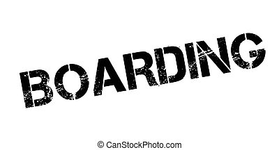Boarding rubber stamp